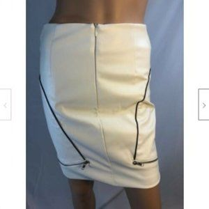 Rehab Womens Skirt Pencil  Faux Leather S